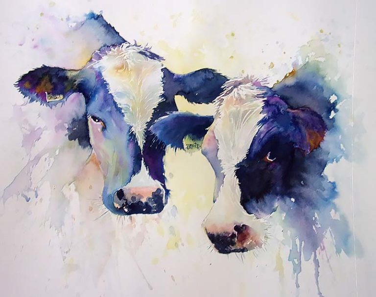 Pair of Inky Cows #2