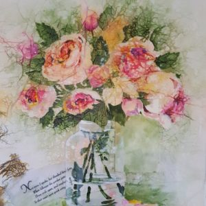 Mixed Media Flower Study #1 Roses