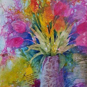 Mixed Media Flower Study #3 – Tulips